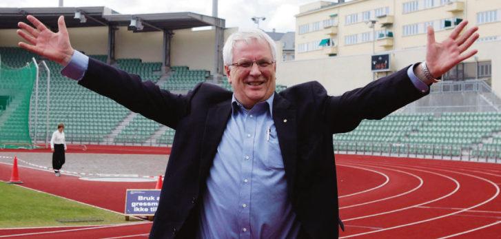 SLIK VI KJENTE HAN: Svein Arne Hansen på Bislett Stadion. Han var genuint glad i friidrett der alle visste hvem han var. Her fra Golden League/Bislett Games i 2007.