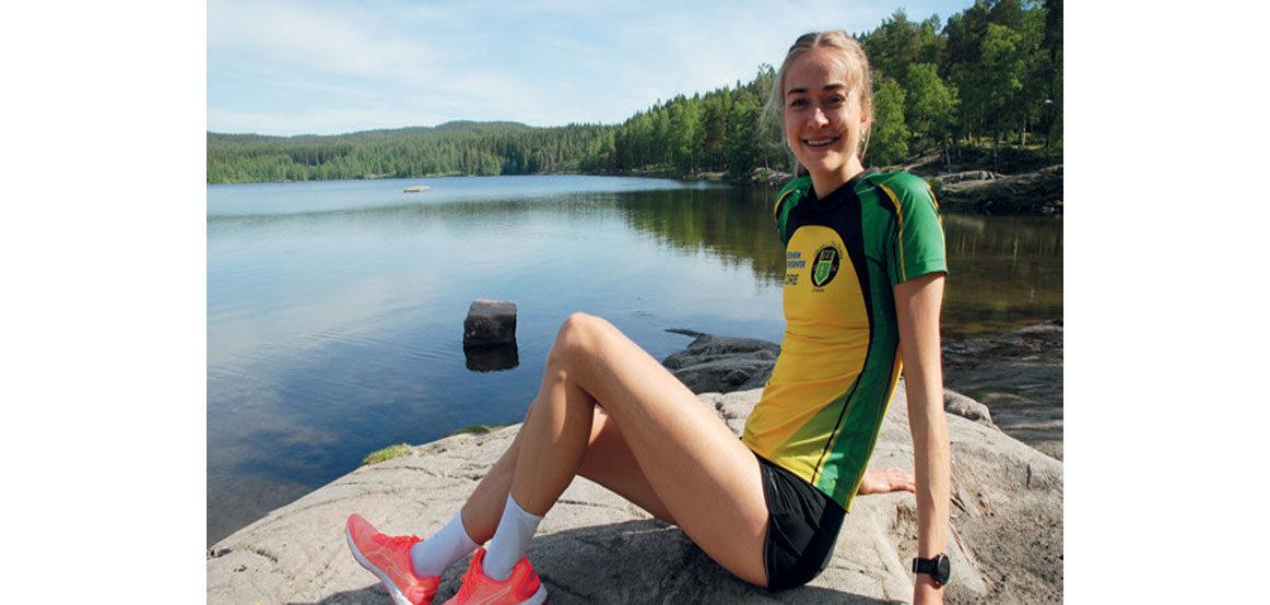 SATTE PERS: –Det skjedde flere ganger at jeg forberedte meg til løp, som senere ble avlyst, sier Amalie Sæten. Hun fikk likevel muligheten til å løpe i Finland der hun satte personlig rekord på 1500 meter. FOTO: JON WIIK