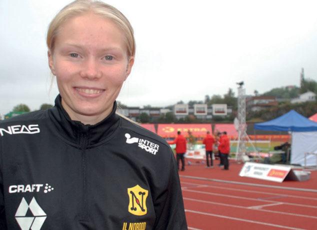MED U23-EM SOM MÅL: Elise Hoel Ulseth oppnådde 7. plass både i høyde og lengde under NM på Fana stadion på tampen av fjorårssesongen. Til sommeren håper hun å være tilbake på arenaen, som medlem av vertsnasjonens tropp i U23-EM.